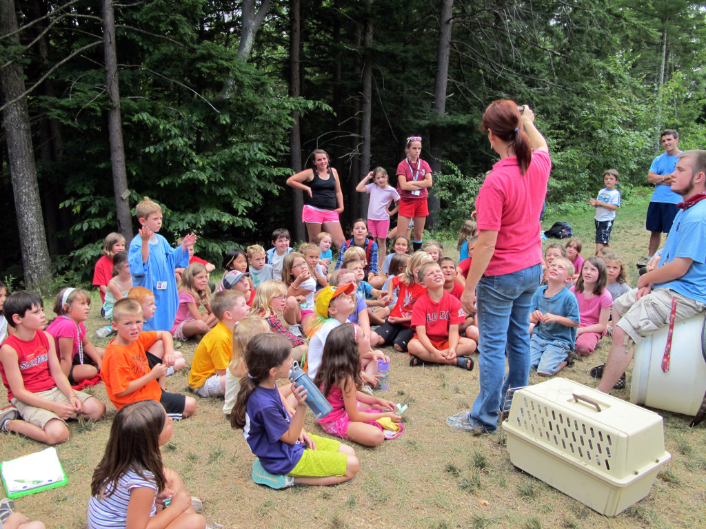 A photo of a visit to the YMCA camp